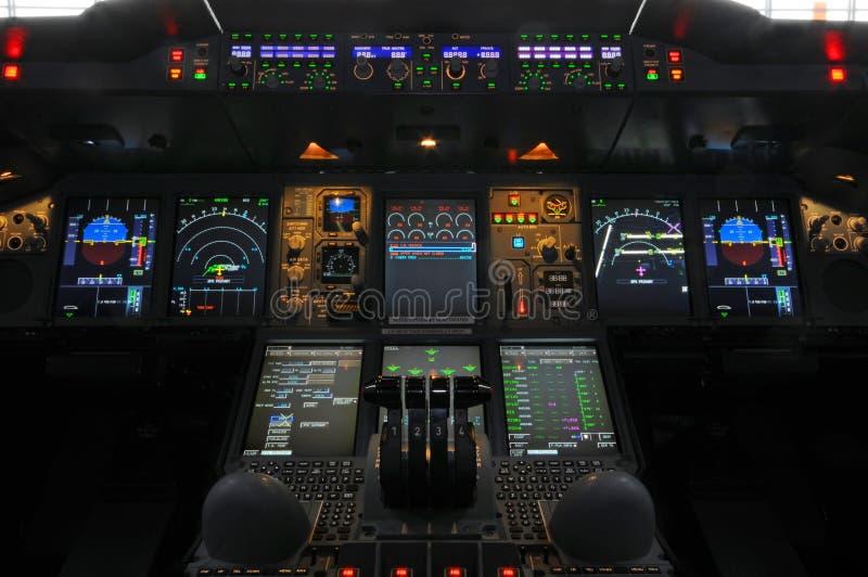 Πιλοτήριο airbus A380 στοκ φωτογραφίες