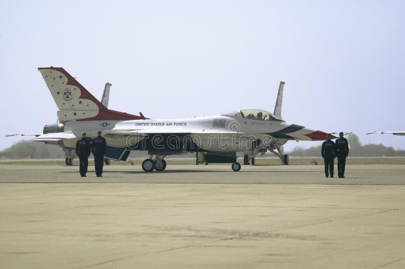 Πιλότοι Πολεμικής Αεροπορίας των Η.Π.Α. στοκ φωτογραφία με δικαίωμα ελεύθερης χρήσης