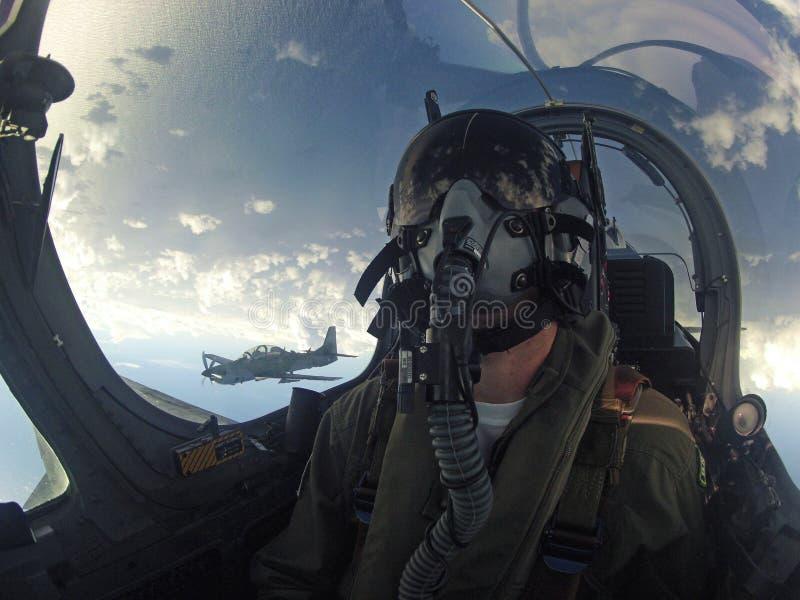 Πιλότος πολεμικού αεροσκάφους στοκ φωτογραφία με δικαίωμα ελεύθερης χρήσης