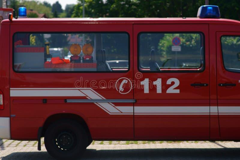 Πλάγια όψη πυροσβεστικών οχημάτων στοκ φωτογραφίες