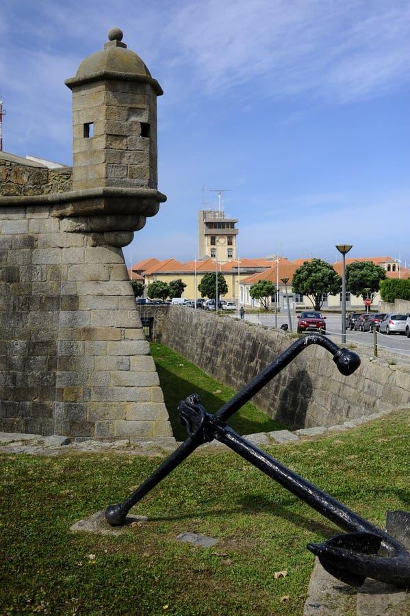 Πλάγια όψη σχετικά με το κάστρο σε Leça DA Palmeira στοκ φωτογραφίες με δικαίωμα ελεύθερης χρήσης