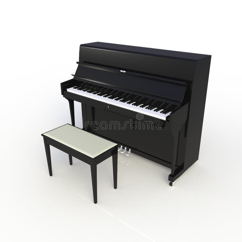 Πλάγια όψη του κλασικού μουσικού μαύρου πιάνου οργάνων που απομονώνεται στο άσπρο υπόβαθρο, όργανο πληκτρολογίων στοκ εικόνες