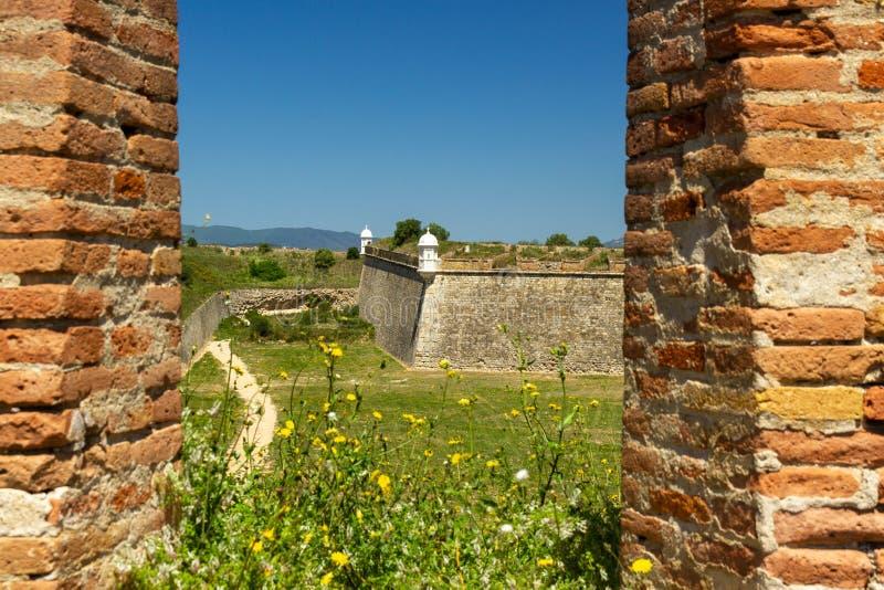 Πλάγια όψη Sant Ferran Castle στοκ εικόνες με δικαίωμα ελεύθερης χρήσης