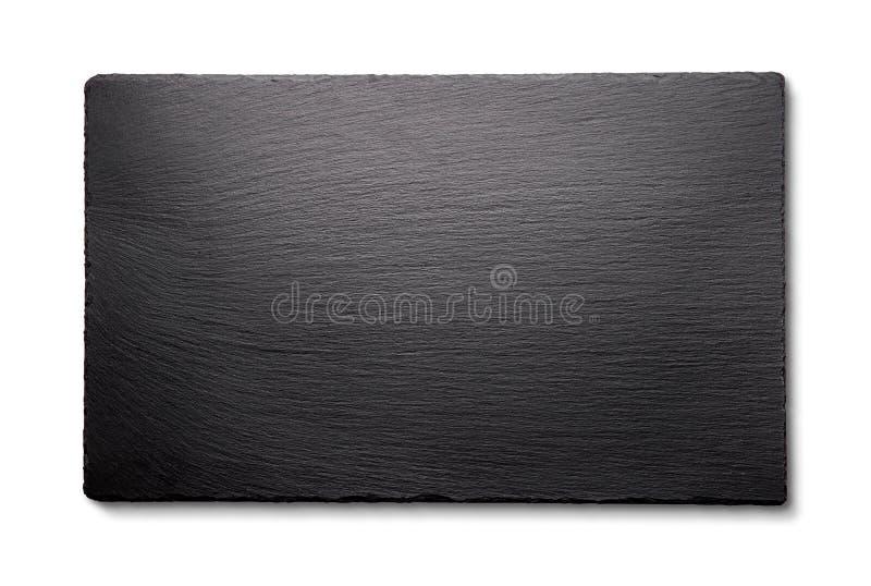 Πλάκα που απομονώνεται μαύρη στο λευκό στοκ εικόνα με δικαίωμα ελεύθερης χρήσης