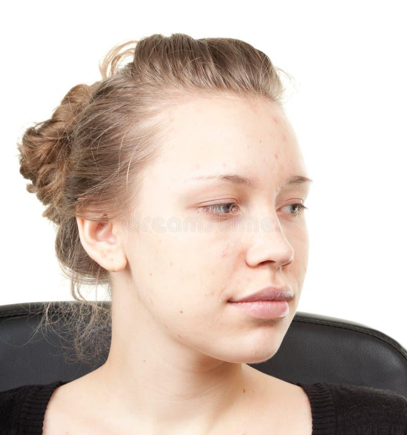 πλάνο διαδικασίας 2 makeup στοκ φωτογραφία με δικαίωμα ελεύθερης χρήσης