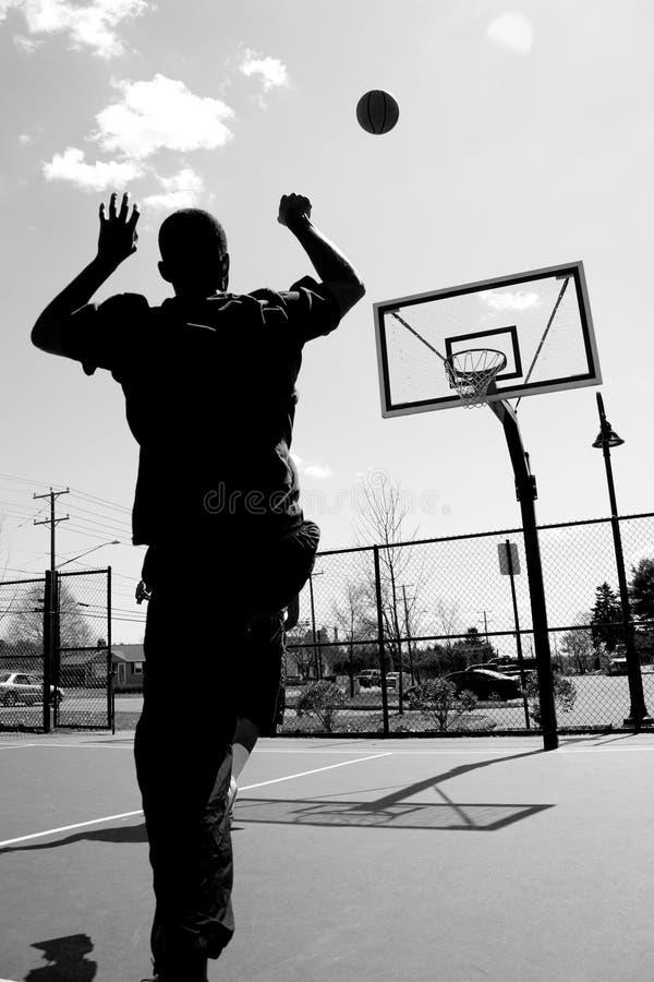 πλάνο καλαθοσφαίρισης στοκ εικόνα
