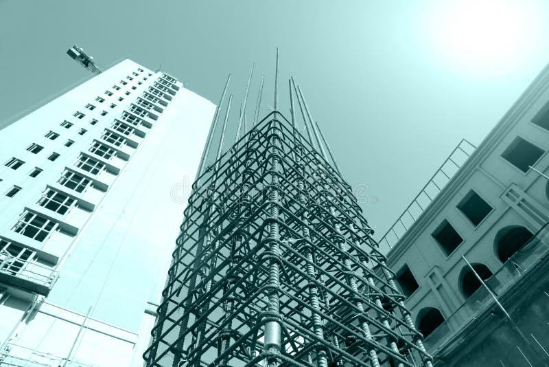 Πλέγμα χάλυβα στο εργοτάξιο οικοδομής στοκ φωτογραφίες με δικαίωμα ελεύθερης χρήσης