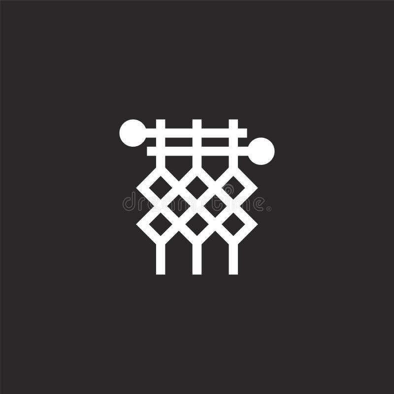 πλέκοντας εικονίδιο Γεμισμένο πλέκοντας εικονίδιο για το σχέδιο ιστοχώρου και κινητός, app ανάπτυξη πλέκοντας εικονίδιο από τα γε διανυσματική απεικόνιση