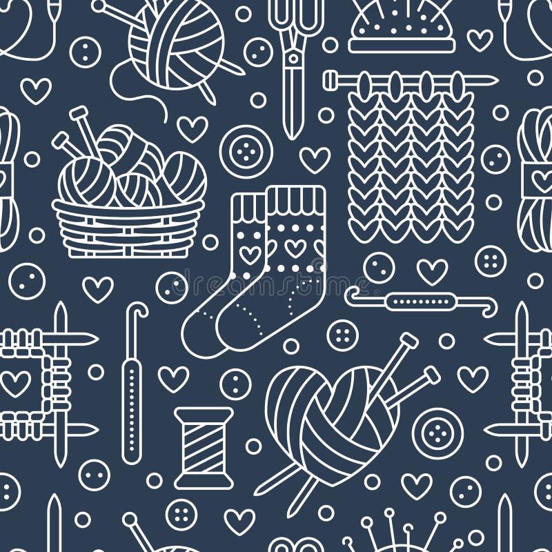 Πλέξιμο, άνευ ραφής σχέδιο τσιγγελακιών απεικόνιση αποθεμάτων