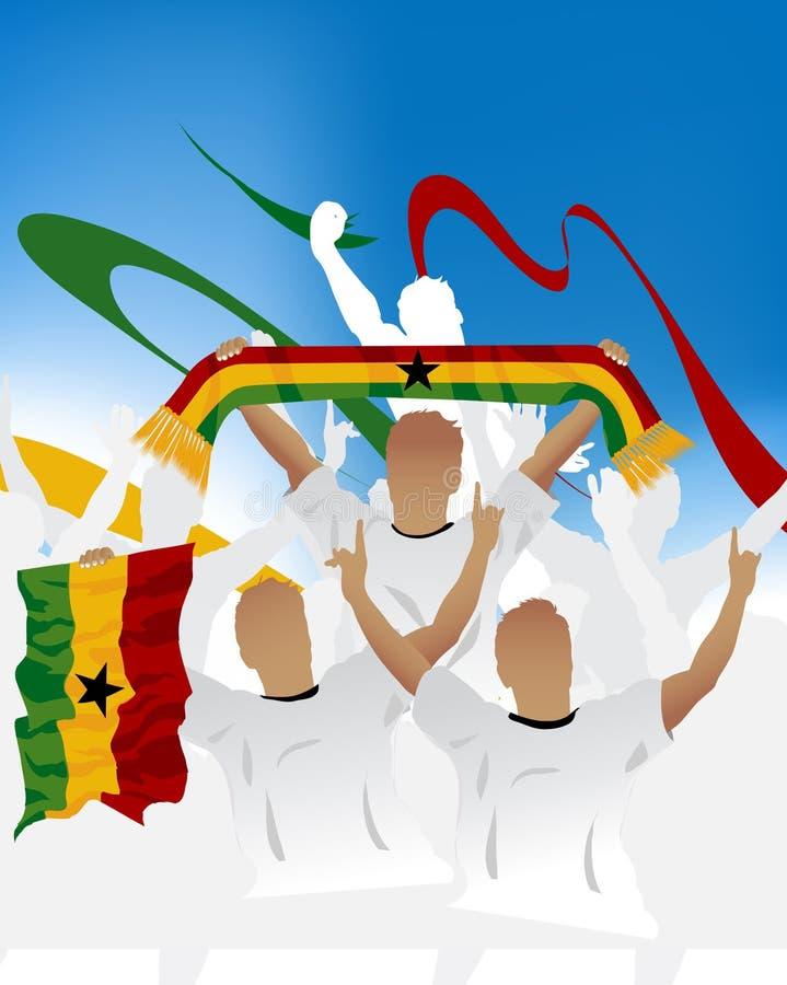 πλήθος Γκάνα διανυσματική απεικόνιση