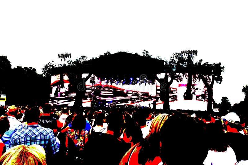Πλήθος σε μια συναυλία βράχου στοκ εικόνα