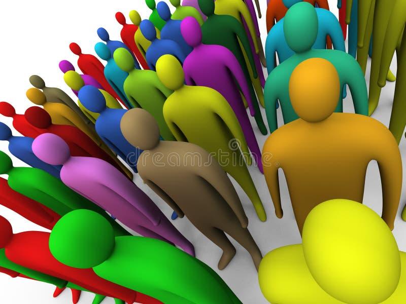 πλήθος 2 πολύχρωμο διανυσματική απεικόνιση