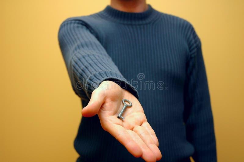 πλήκτρο 4 χεριών στοκ φωτογραφία με δικαίωμα ελεύθερης χρήσης