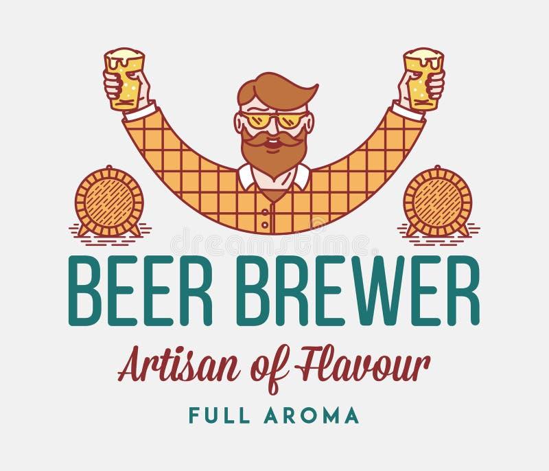 Πλήρες άρωμα ζυθοποιών μπύρας απεικόνιση αποθεμάτων