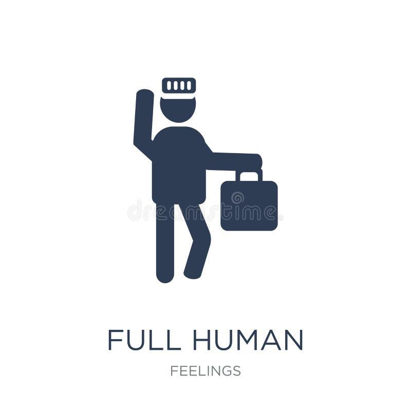 πλήρες ανθρώπινο εικονίδιο Καθιερώνον τη μόδα επίπεδο διανυσματικό πλήρες ανθρώπινο εικονίδιο στη λευκιά ΤΣΕ ελεύθερη απεικόνιση δικαιώματος