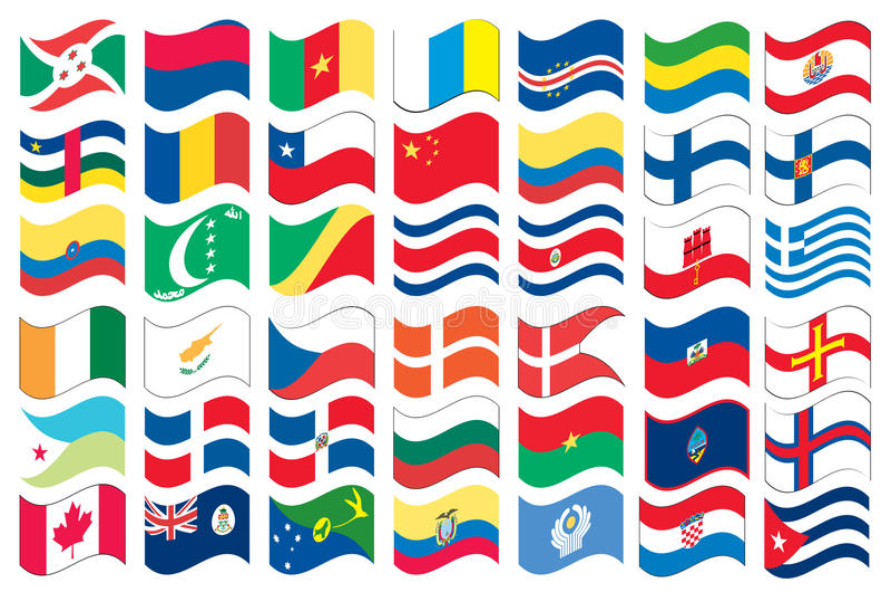 Download πλήρες εθνικό σύνολο μερώ& διανυσματική απεικόνιση. εικονογραφία από αφρική - 13182487
