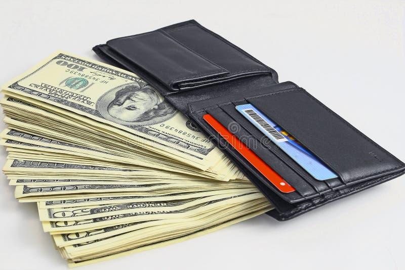 Download πλήρες πορτοφόλι στοκ εικόνα. εικόνα από δολάριο, εκατό - 17050829