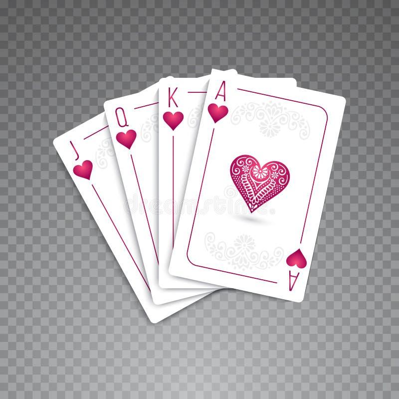 Πλήρες σύνολο καρτών ελεύθερη απεικόνιση δικαιώματος