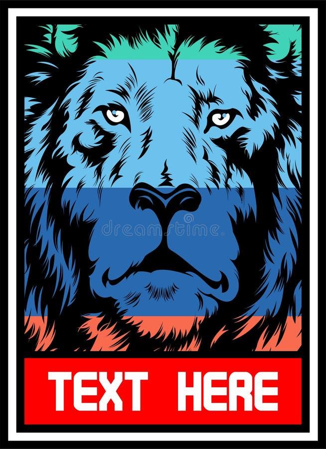 Πλήρες χρώμα λιονταριών διανυσματική απεικόνιση