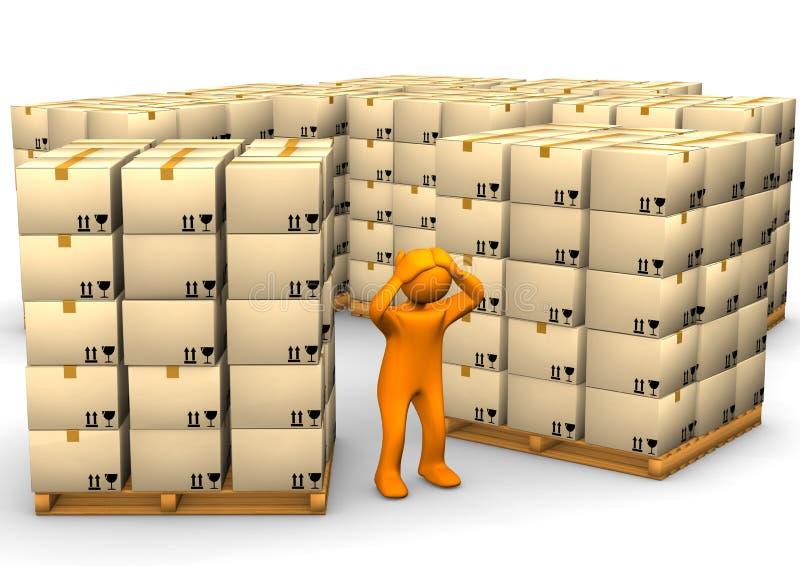 πλήρης αποθήκη εμπορευμάτων απεικόνιση αποθεμάτων