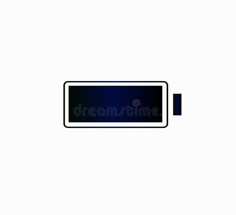 Πλήρης δαπάνη εικονιδίων στην μπαταρία Διανυσματικό εικονίδιο για το smartphone ή τον ιστοχώρο διανυσματική απεικόνιση