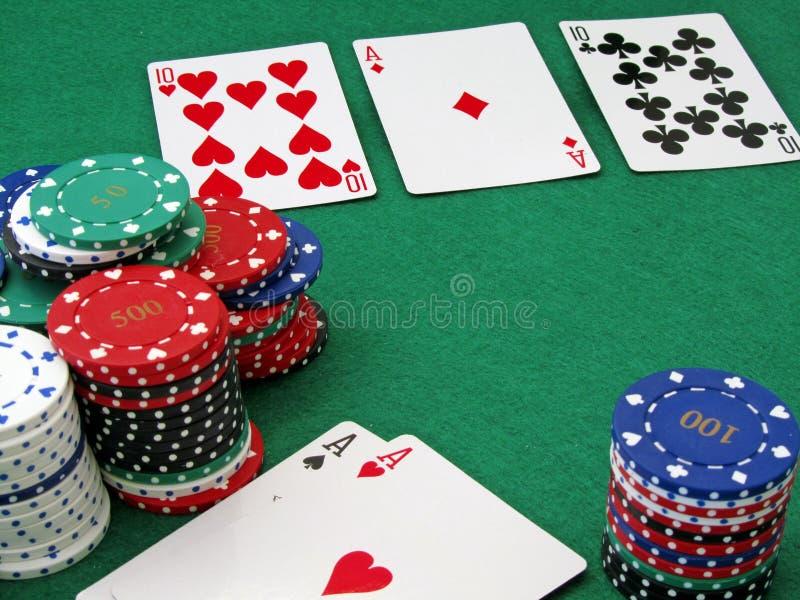 πλήρης σκηνή πόκερ σπιτιών στοκ φωτογραφία με δικαίωμα ελεύθερης χρήσης
