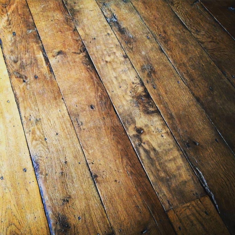 Πλήρης στενή επάνω σύσταση πλαισίων παλαιά ξύλινα floorboards στοκ εικόνες με δικαίωμα ελεύθερης χρήσης