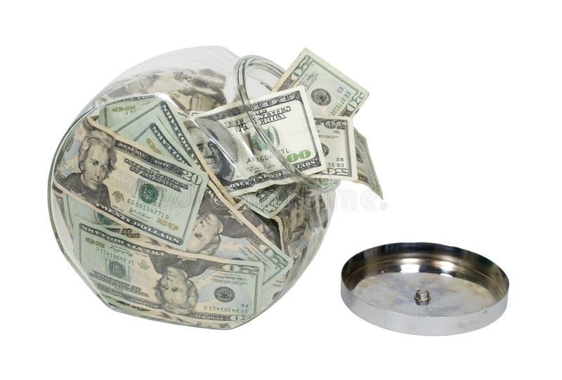 πλήρη χρήματα βάζων μπισκότων στοκ φωτογραφία με δικαίωμα ελεύθερης χρήσης