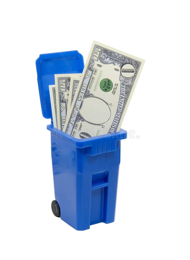 πλήρη χρήματα δοχείων κανέν&alph στοκ εικόνα