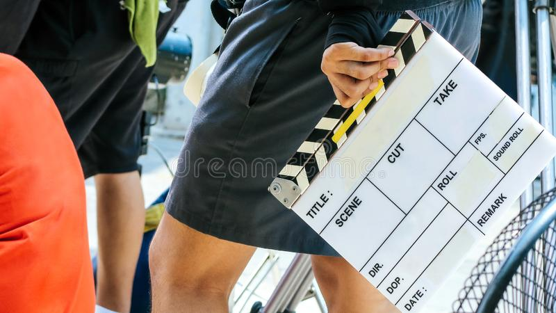 Πλήρωμα παραγωγής ταινιών στοκ εικόνες με δικαίωμα ελεύθερης χρήσης