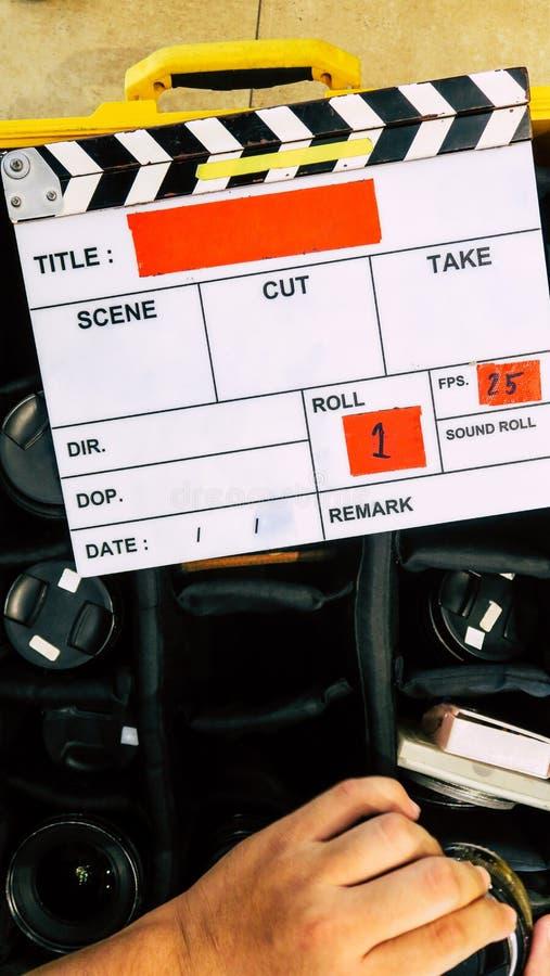 Πλήρωμα παραγωγής ταινιών στοκ εικόνα