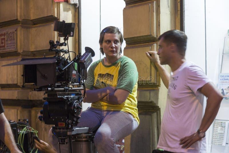 Πλήρωμα ταινιών στο Ζάγκρεμπ, Κροατία στοκ φωτογραφία