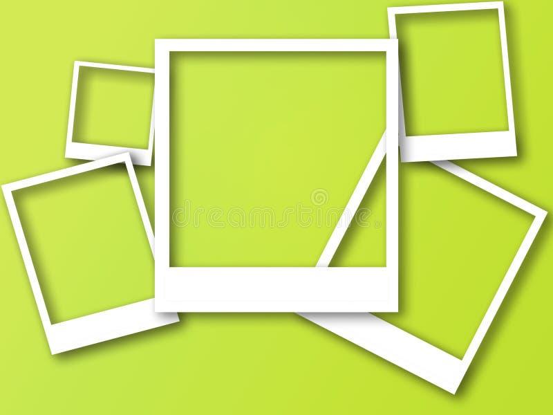 Πλαίσια φωτογραφιών με το διάστημα για το κείμενο και τη μαλακή σκιά ελεύθερη απεικόνιση δικαιώματος