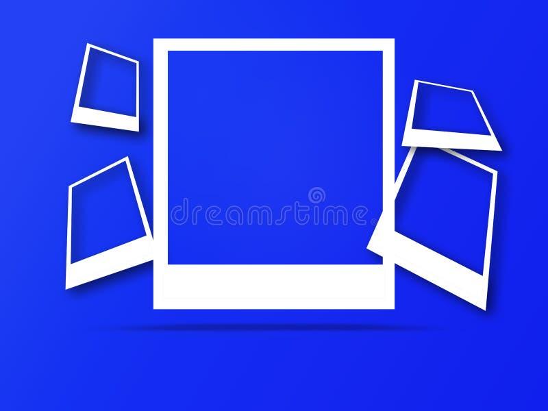 Πλαίσια φωτογραφιών με το διάστημα για το κείμενο και τη μαλακή σκιά απεικόνιση αποθεμάτων