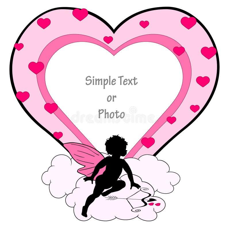 πλαίσιο έρωτα διανυσματική απεικόνιση