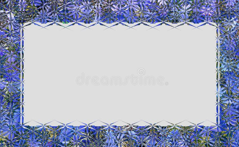 Πλαίσιο ή σύνορα ύφους γυαλιού διανυσματική απεικόνιση