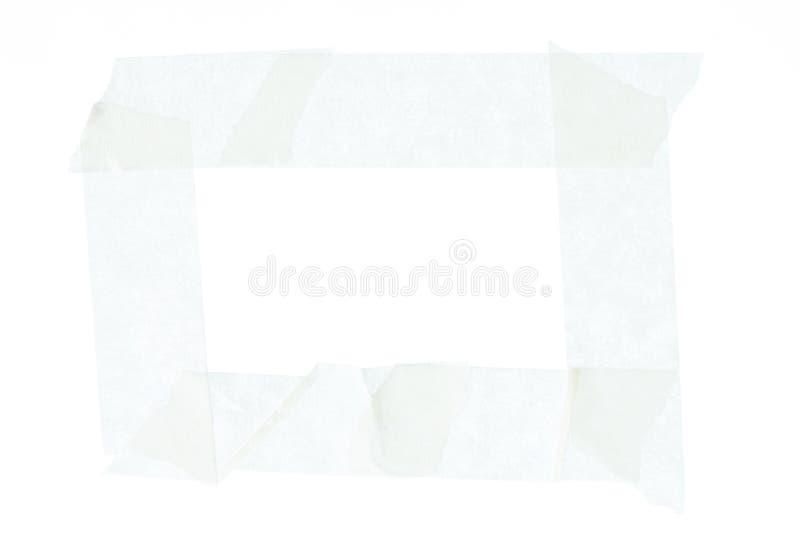 Πλαίσιο από την άσπρη καλύπτοντας ταινία στοκ φωτογραφία με δικαίωμα ελεύθερης χρήσης