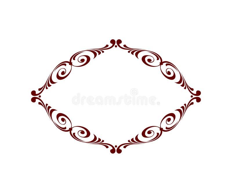 πλαίσιο βασιλικό επίσης corel σύρετε το διάνυσμα απεικόνισης Καφετί λευκό απεικόνιση αποθεμάτων