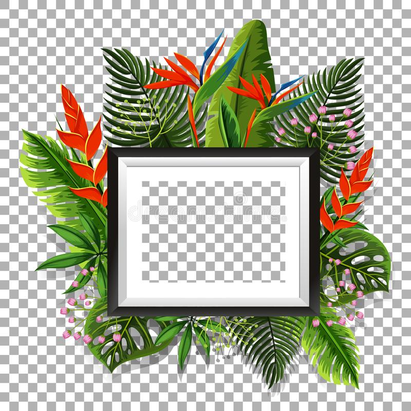 Πλαίσιο εικόνων με το πουλί του παραδείσου στο υπόβαθρο διανυσματική απεικόνιση
