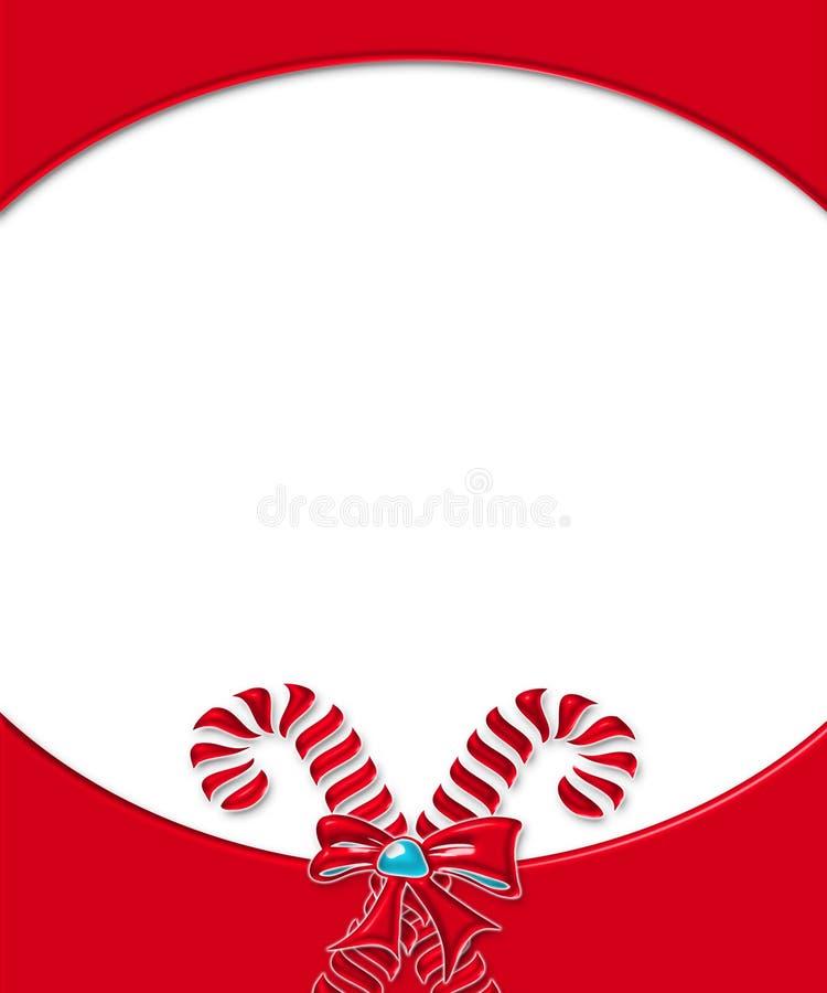 πλαίσιο καρτών καλάμων 3 καραμελών διανυσματική απεικόνιση