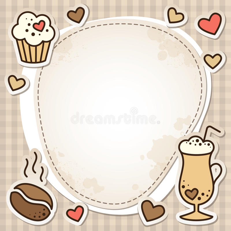 πλαίσιο καφέ απεικόνιση αποθεμάτων
