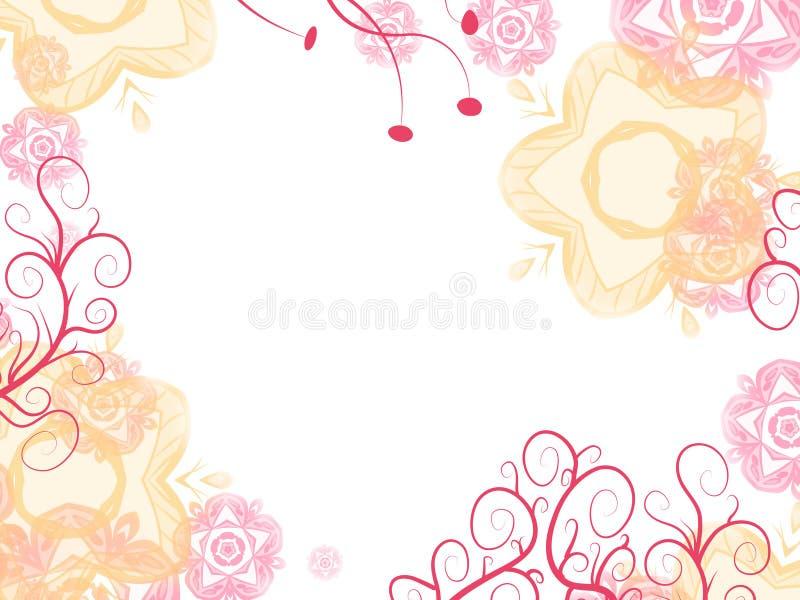 πλαίσιο λουλουδιών μα&lamb απεικόνιση αποθεμάτων