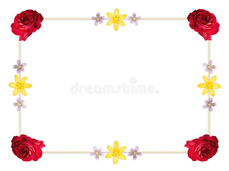 πλαίσιο λουλουδιών συ ελεύθερη απεικόνιση δικαιώματος