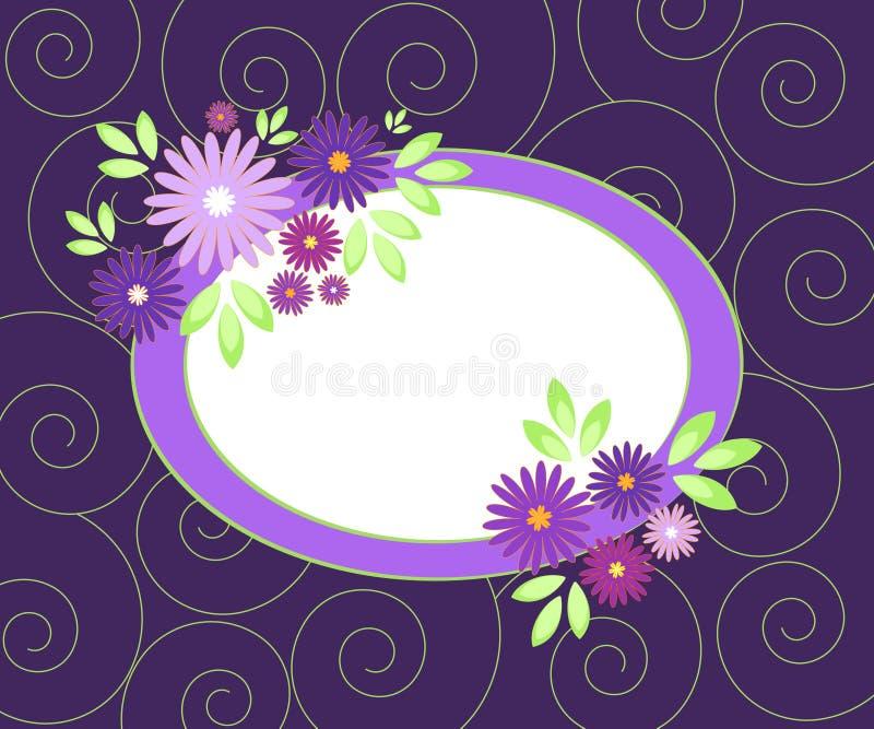πλαίσιο λουλουδιών διανυσματική απεικόνιση