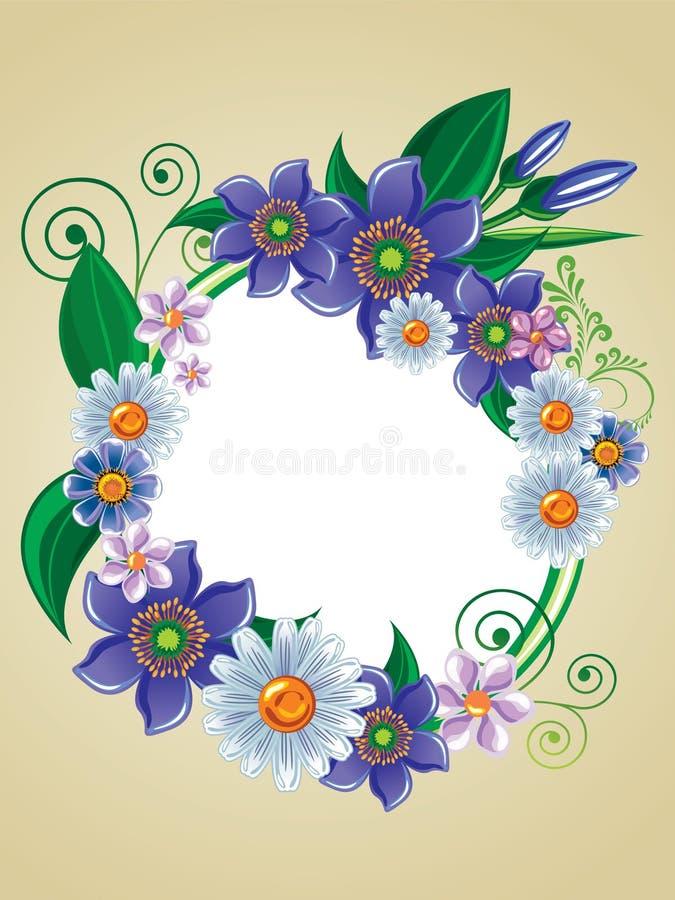 πλαίσιο λουλουδιών απεικόνιση αποθεμάτων