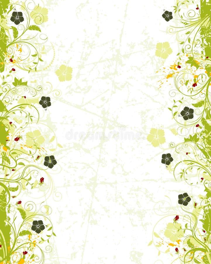 πλαίσιο λουλουδιών grunge ελεύθερη απεικόνιση δικαιώματος