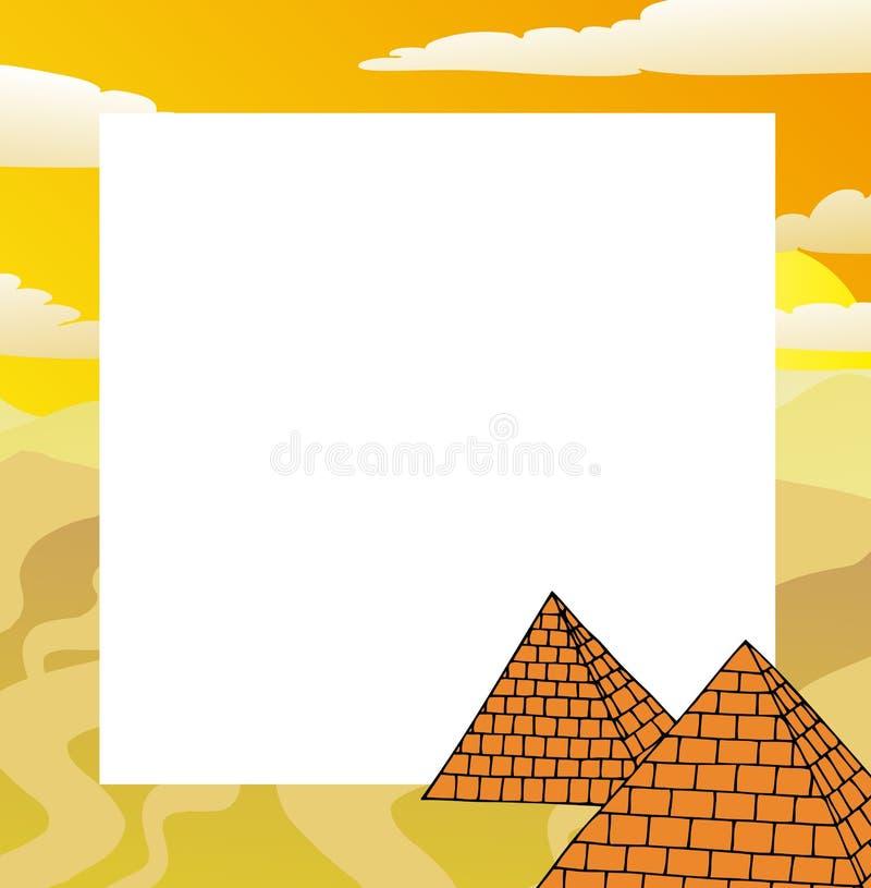 Πλαίσιο με τις πυραμίδες διανυσματική απεικόνιση