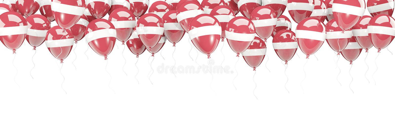 Πλαίσιο μπαλονιών με τη σημαία της Λετονίας ελεύθερη απεικόνιση δικαιώματος