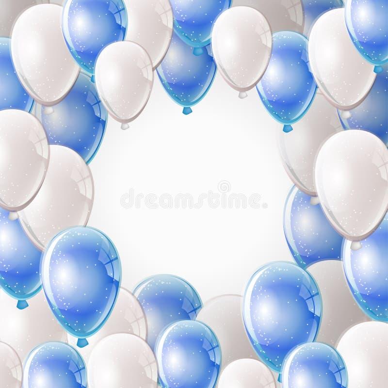Πλαίσιο μπαλονιών διανυσματική απεικόνιση