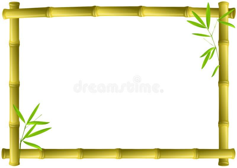 πλαίσιο μπαμπού διανυσματική απεικόνιση